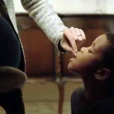 Anti-Hunger Ad Shows Black Child Being Treated Like A Dog