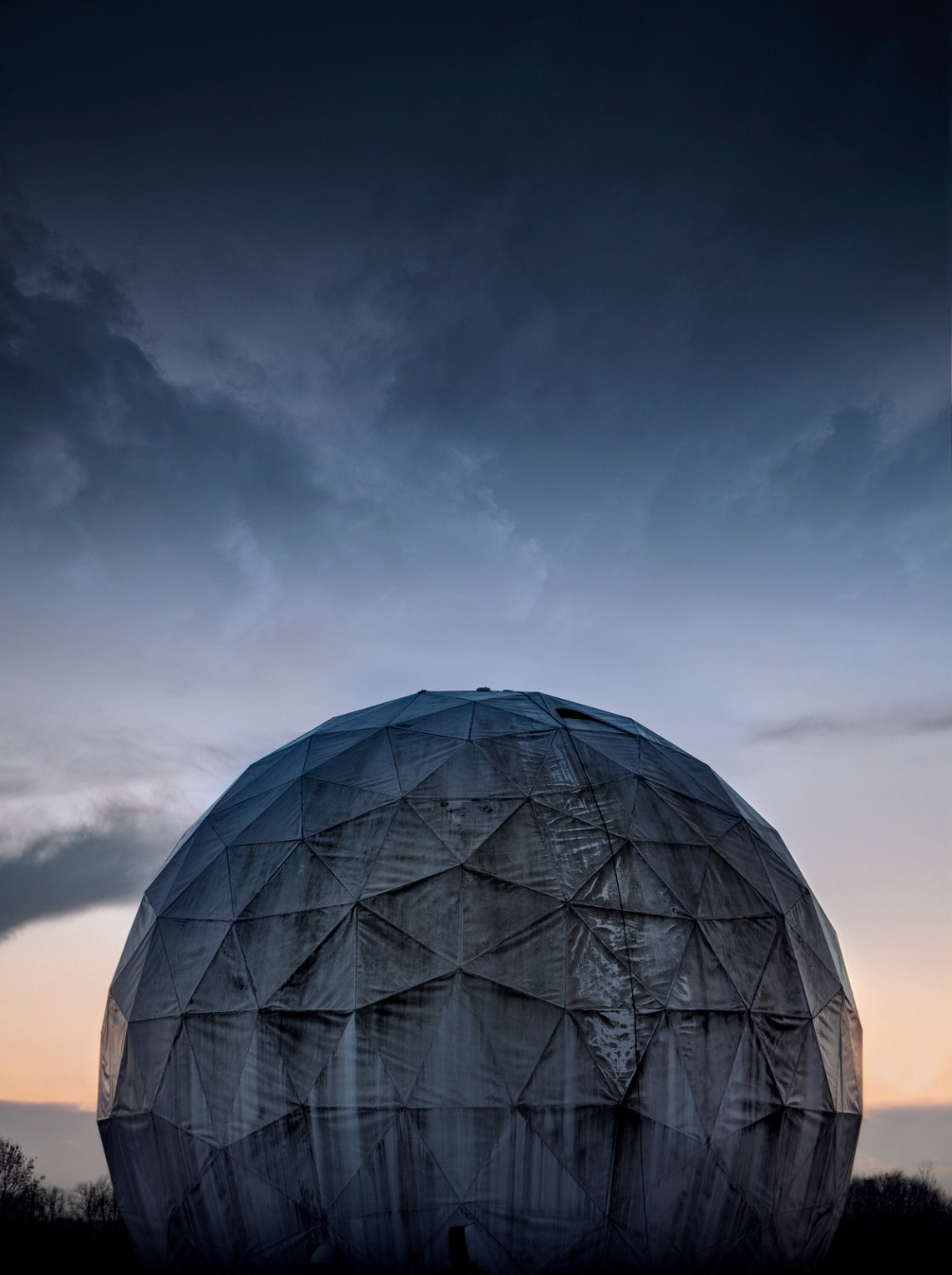 Radar Dome Exterior. Photograph by Forgotten Heritage Photography. Used with permission.