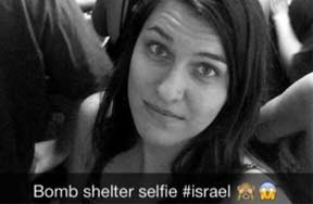 The #Rocketselfie: A New Hashtag Emerges As Israelis Take Cover From HamasRockets