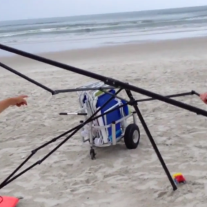 Watch These Two Old Ladies Get Caught As They Try To Steal A Family's Things On The Beach