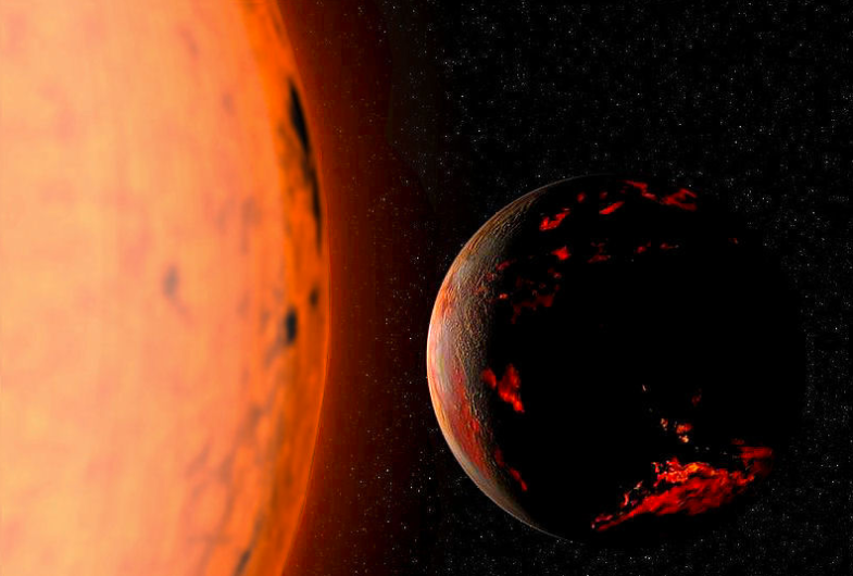 This is what the earth is predicted to look like in 5-7 billion years when the sun gets bigger and turns into a Red Giant, Praemonitus
