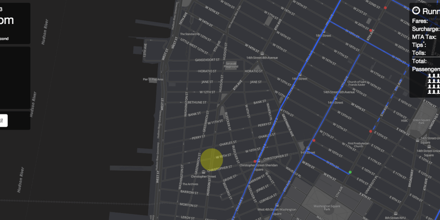 This Interactive Data Visualization Map Of A Life Of A New York City Taxi IsMesmerizing