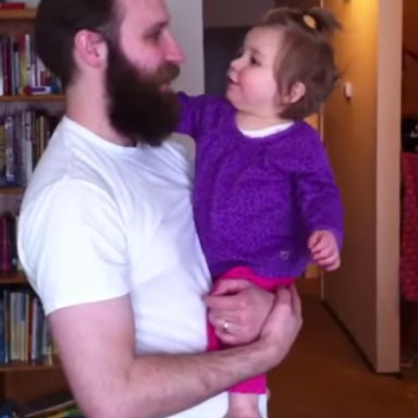 Watch This Baby's Reaction After Her Dad Shaves Off His Beard