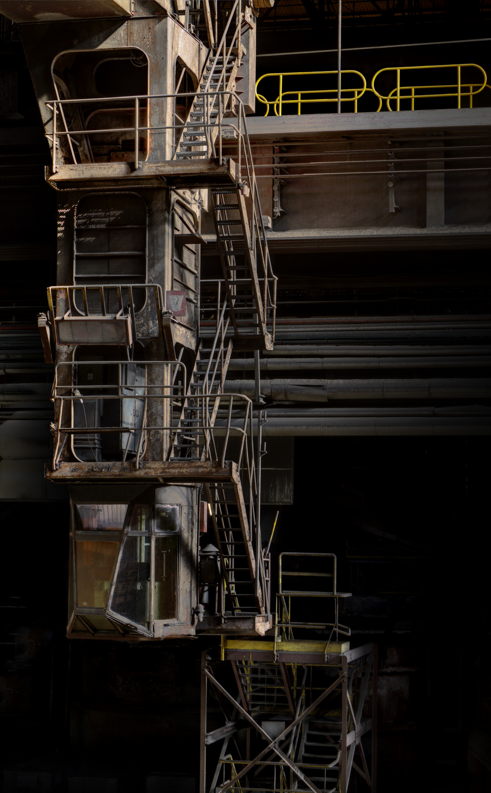 Steel work stairs. Photograph by Forgotten Heritage Photography. Used with permission.