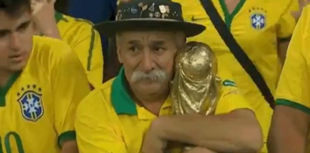 Here's A Video Of The World's Saddest Man Clutching His BrokenDreams
