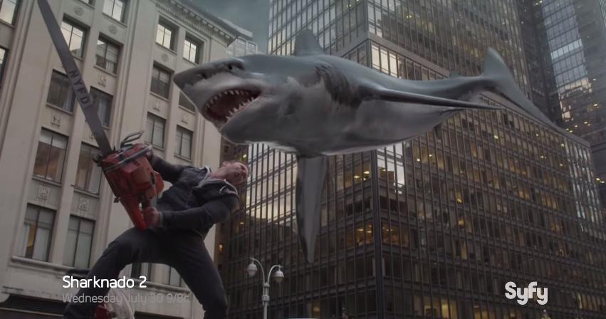 """It Can Actually Happen"": Tara Reid Trolls America In Sharknado 2Interview"