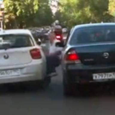 VIDEO: Russian Motorist Deliberately Runs Over Elderly Man