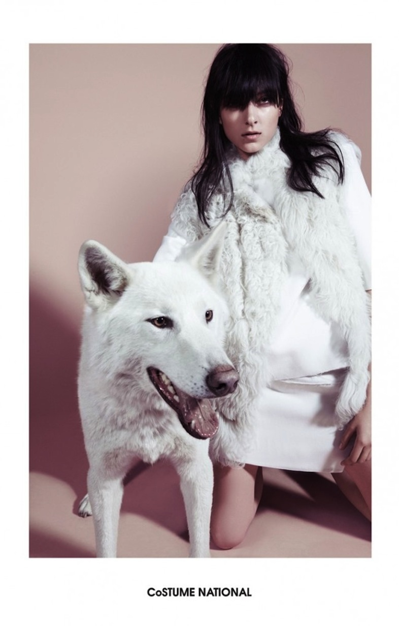 Sarah Engelland (and Husky) for Costume National '14/'15 campaign by Glen Luchford.