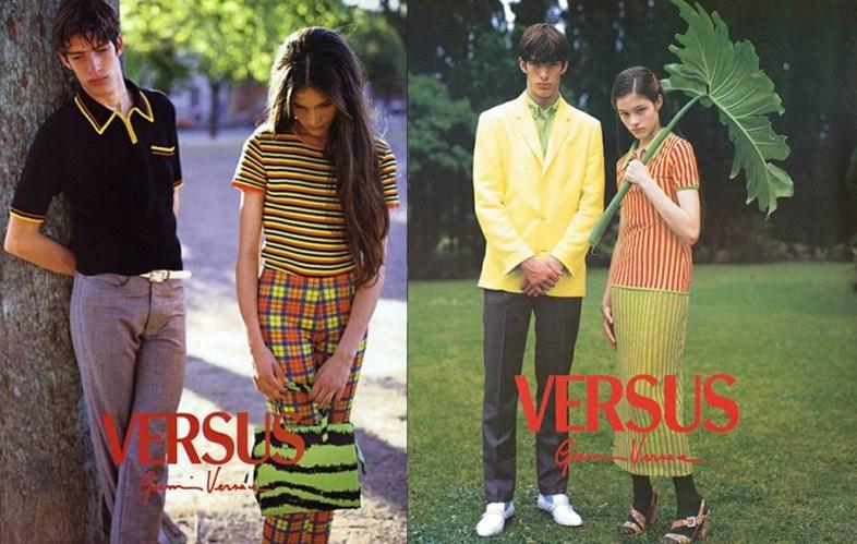 Versace Versus 1996 campaign shot by Bruce Weber.