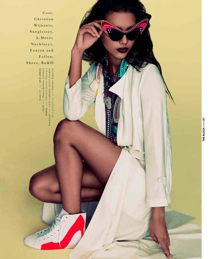 Chrishell Stubbs by Bon Duke for The Block Magazine, S/S '12.