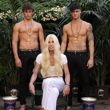 WATCH: Two Hot Models Drench Donatella Versace With Ice Water