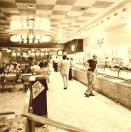 early august 1973 famous cafeteria