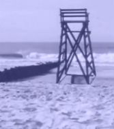 late july 1973 lifeguard's chair