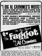 mid-august 1973 the faggot ad
