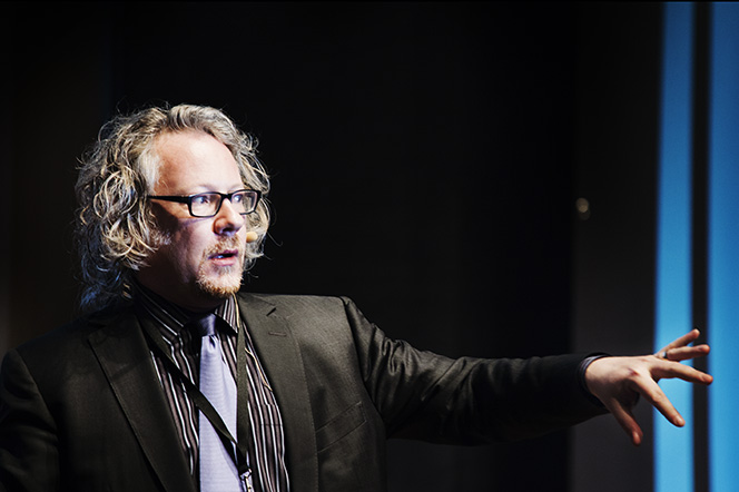 Image of Richard Nash speaking in Stockholm provided courtesy of The Next Chapter, Publit, Sweden