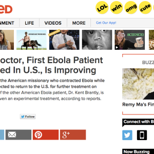 Ebola Found In Pages Of BuzzFeed