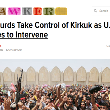 """Racist Media Refers to Iraqi Freedom Fighters As """"Kurds"""""""