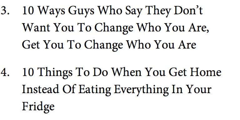 10 Listicles I Wish Someone WouldWrite