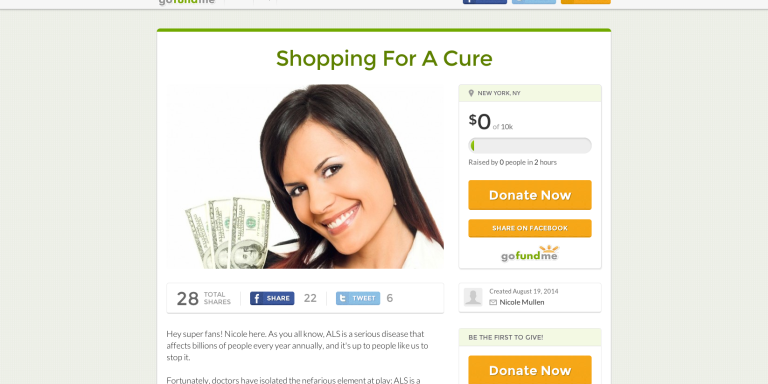 Really Want To Stop ALS? Donate ToThis.