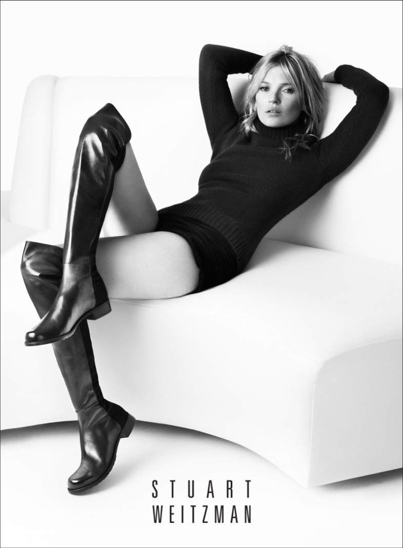 Kate Moss for the Stuart Weitzman fall 2013 campaign shot by Mario Testino.