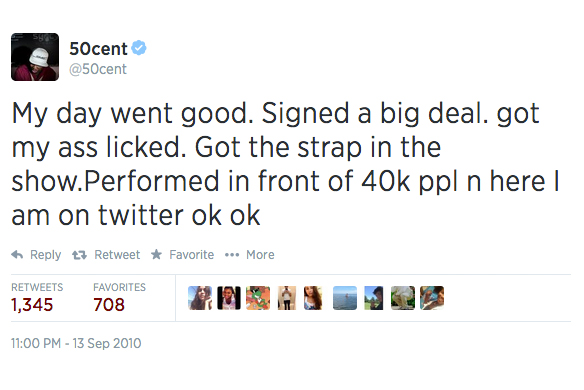 The 20 Most Outrageous 50 Cent Tweets Of All Time