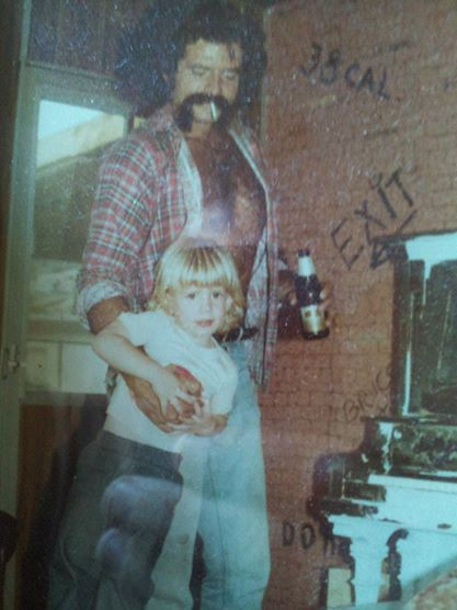 My Uncle Mark and Me in Happier Times. image provided by Jason Smith