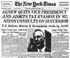 1973 early october NYT Agnew Quits