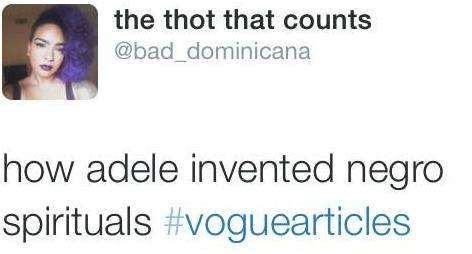 Don't Piss Off Black Twitter: The Top 10 Funniest Tweets From #VogueArticles