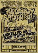 late sept 1973 allman bros canceled