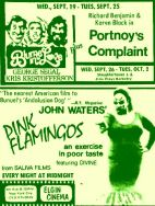 late sept 1973 pink flamingos