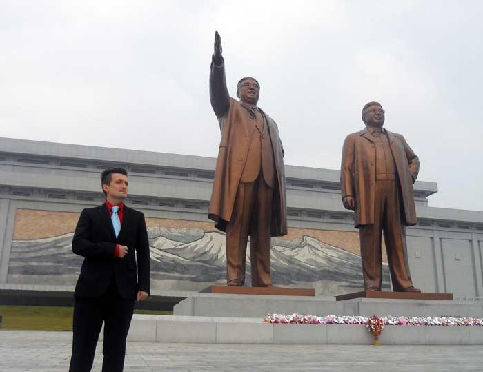 Michael Malice in Pyongyang, North Korea.