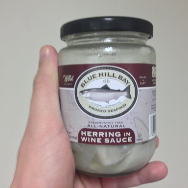 A Review Of This Jar Of Ready-To-Eat Pickled Herring In Wine Sauce