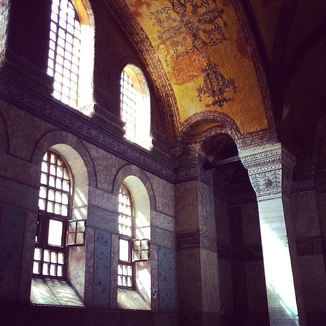 Sunlight entering the Hagia Sofia in Istanbul. Photo by Kate Devine.