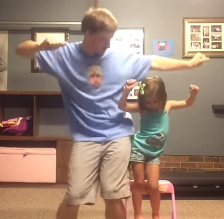"""Watch: The Ultimate """"Father/Daughter"""" Dance (Warning: Almost Too Cute ToHandle)"""