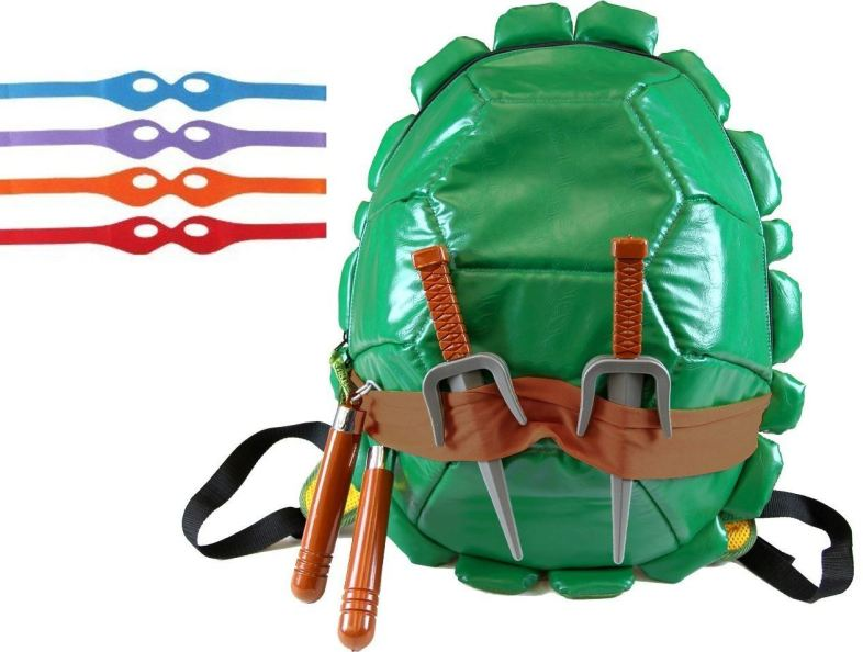 Teenage Mutant Ninja Turtles Children's Shell Backpack With Weapons Masks