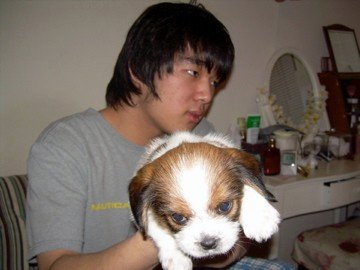 That long-haired gentleman is my brother. Odie is/was very loyal to me and wanted nothing to do with Jason,