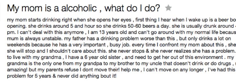 8 Questions About Alcoholism On Yahoo! Answers AnsweredPerfectly