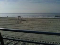 late november 1973 empty beach