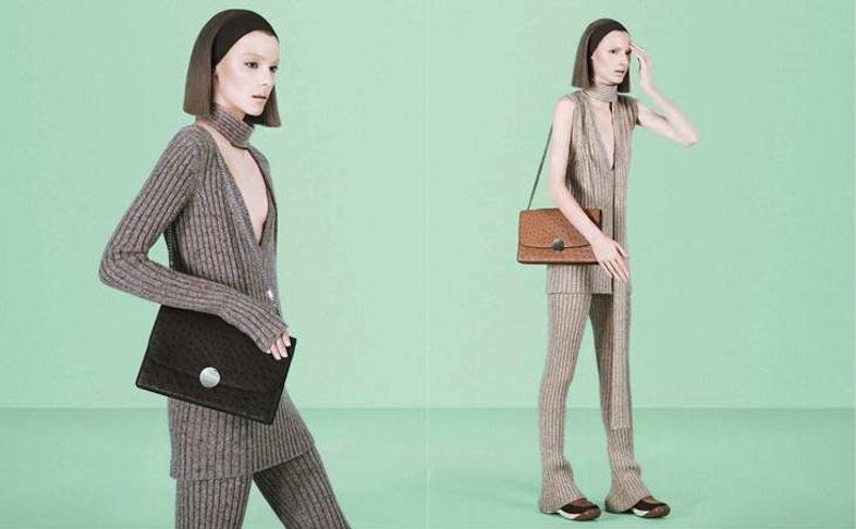 Marc Jacobs Fall 2014 campaign shot by David Sims, featuring Julia Nobis and Waleska Gorczevski.