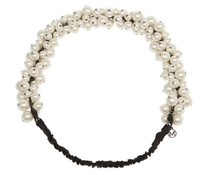 Maison Michel's Astrid faux pearl headband, $440 / Net-A-Porter.