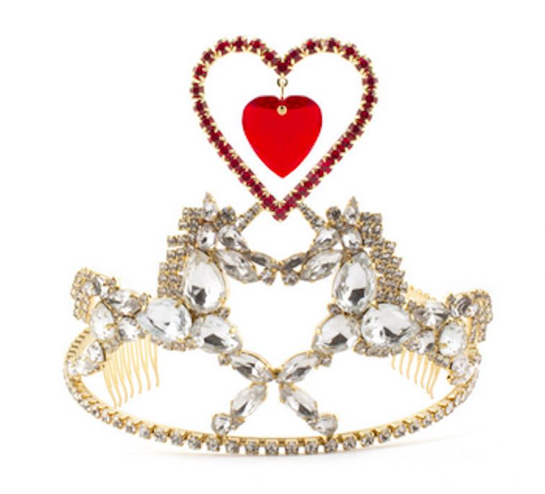 Meadham Kirchhoff's Heart & Unicorn Tiara, $590 / VFiles.