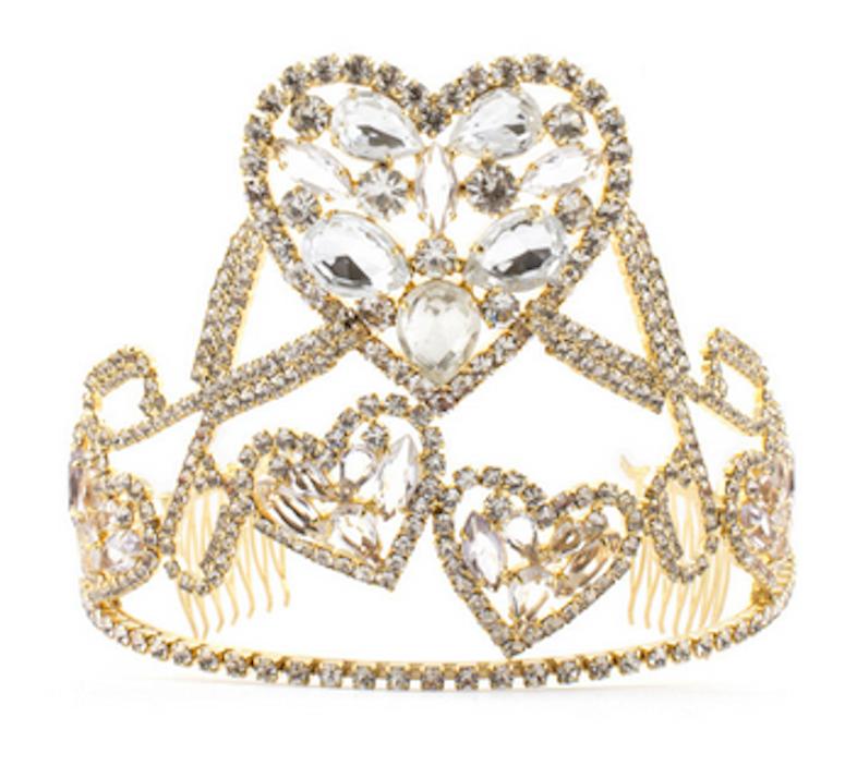 Meadham Kirchhoff's heart & scissors tiara, $590 / VFiles.
