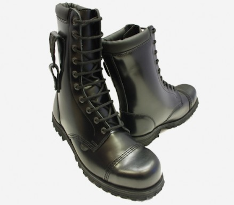 Underground combat flying boot steel cap, £129.