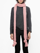 Wool and the Gang's Giles scarface in pink blush (also comes in navy and gray) / Wool and the Gang.