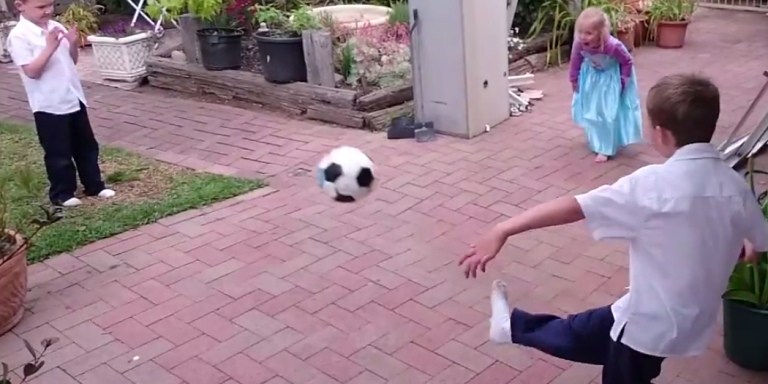 This Is A Picture-Perfect Slow Motion Soccer Ball To The Head On The InternetToday