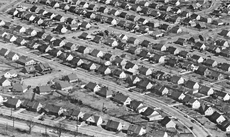 Levittown, in the early 1950s (Mark Mathosian)