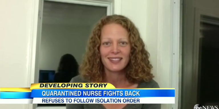 Quarantined Ebola Nurse Doesn't Give A Damn, Uses Bike To Leave QuarantineAnyway