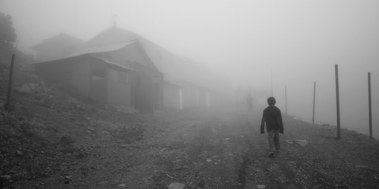 A Thick Fog Blankets My House At Night And There Are Strange Lights In It That UnsettleMe