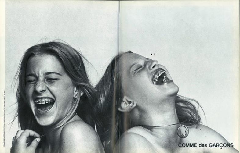 Comme des Garçons campaign, fall/winter 1988.