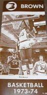Brown 73-74 basketball